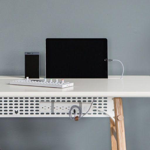 Desk 02 Minimalist Desk Desk Cable Storage