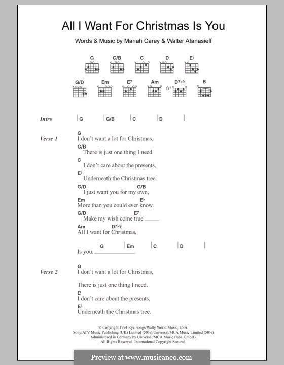 All I Want For Christmas Is You Mariah Carey Http Myuke Ca Christmas Ukulele Songs Ukelele Chords Ukulele Songs Ukulele Chords Songs