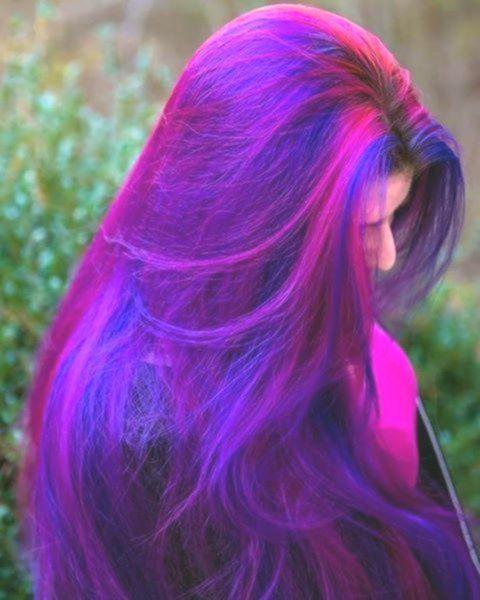 Galaxy Hair Galaxy In 2020 Midnight Blue Hair Hair Color Purple Ombre Hair Color