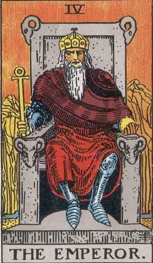 Tarotkaart De Keizer