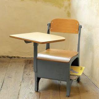 1960's school desk.