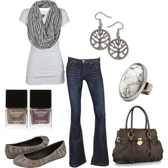 simple: White Tee, Maddie Created, Garcia Llanes, Dream Closet, Cute Outfits, Infinity Scarf, Jennifer Garcia, Casual Outfits, My Style