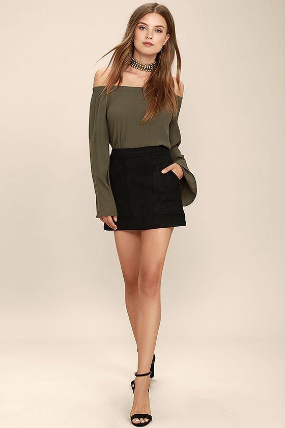 Mini skirts, Minimal and Suede mini skirt on Pinterest