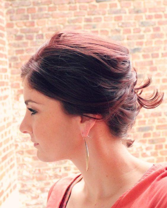 Messy Side Bun for Short Hair