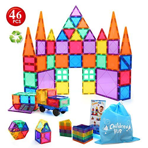 Children Hub 46pcs Magnetic Tiles Set Building Construc Https Www Amazon Com Dp B0746ff3xh Ref Cm Sw Magnetic Tiles Magnetic Building Toys Kids Magnets