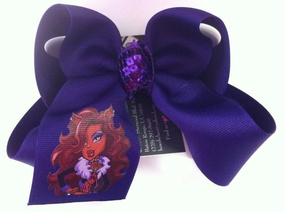 Large purple Monster high bow