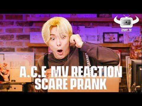 Kpop Idols A C E Scare Prank Zany Tv W Eng Sub Boy Groups Pranks Ace