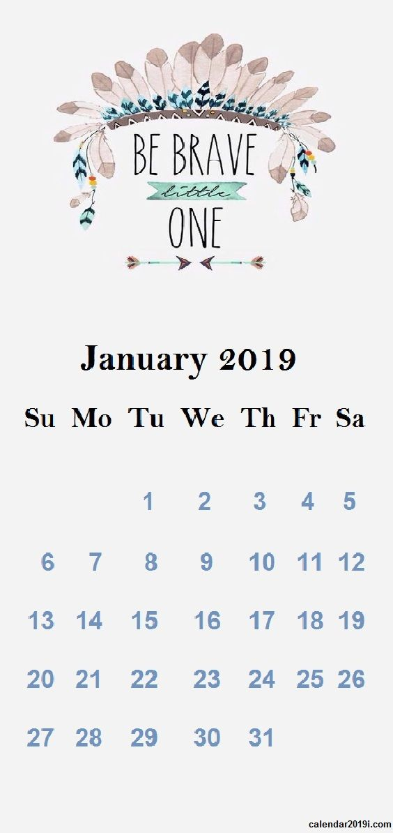 January 2019 Iphone Calendar Wallpaper