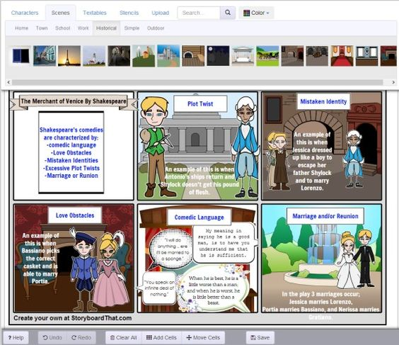 Storyboard That. To get a free trial say you're a teacher. Great for English/Drama revision and projects