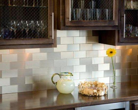 Kitchens Remarkable Peel Stick Vinyl Tile Brown Color