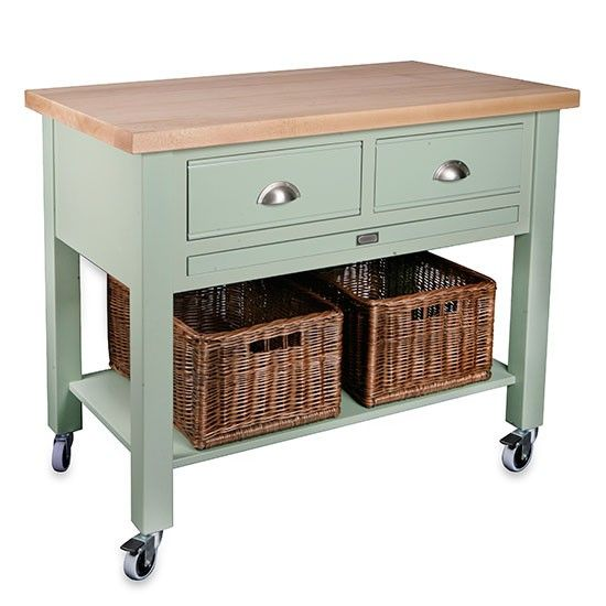 Baydon 2 drawer kitchen trolley from Store   Butcher's Blocks - 10 of the best   PHOTO GALLERY   Country Homes and Interiors   Housetohome.co.uk
