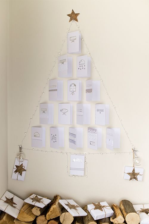 Christmas Card Wall Decor : Upcycle your old holiday cards to make this christmas tree