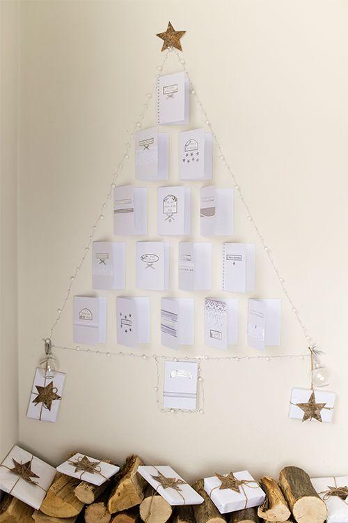 Christmas Card Wall Decor : Upcycle your old holiday cards to make this christmas tree