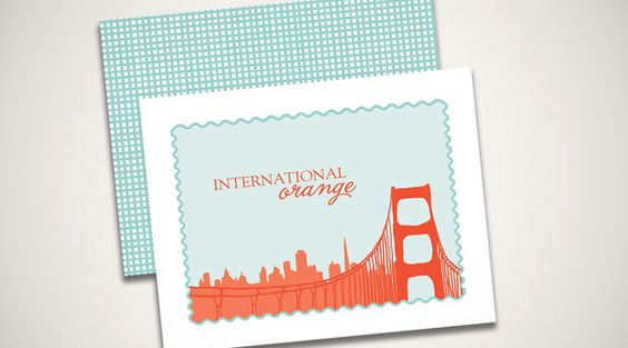 Golden Gate Bridge 75th Anniversary  Custom made stationary by The Card Bar http://184.171.241.196/~thecb/index2.php?v=v1#!/Home