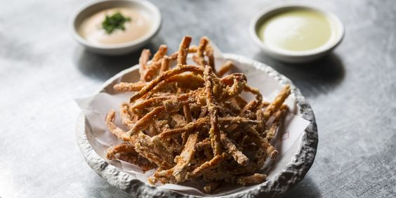 Scott Hallsworth shares his sweet potato fries recipe, which are dipped in a soba-ko (buckwheat flour) batter then twice fried for a wonderfully crunchy texture.