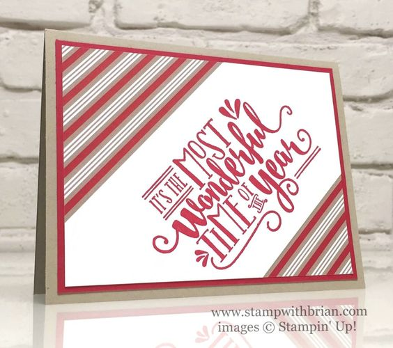 Wonderful Year, Candy Cane Lane Designer Series Paper, Stampin' Up!, Brian King