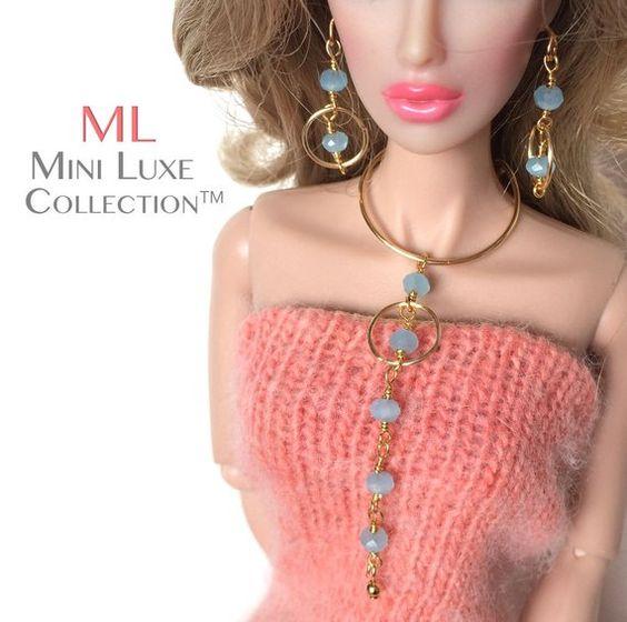 Barbie Jewelry | Fashion Royalty | Fashion Doll Jewelry | Silkstone Barbie | Doll Necklace and Doll