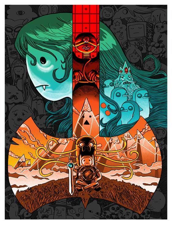 #AdventureTime by Tim Doyle (Tim Doyle) is a marvelous piece of #GeekArt