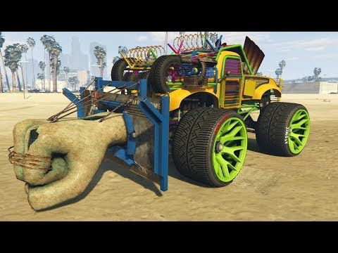 Súper Coche Puño Gta V Online Youtube Monster Trucks Gta Gta Bully