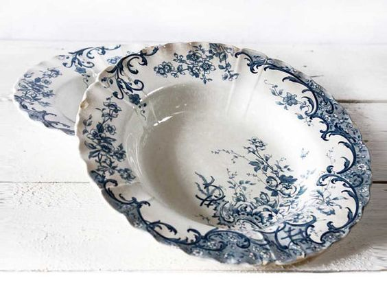 SHABBY but CHIC French soup Plates