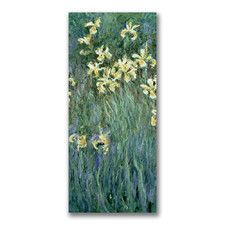 """""""The Yellow Irises"""" by Claude Monet Painting Print on Canvas"""