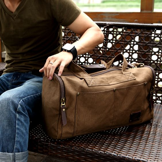 Free shipping new arrival band casualcanvas bags men travel ...