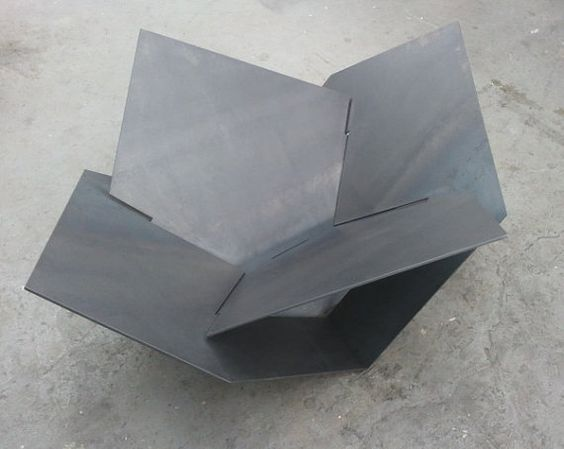 Modern Steel Fire Pit Industrial Metal Atomic by LethalFabrication, $500.00