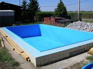 Zwembad bekleed met hdpe plaat betonnen bakken bekleden concrete pools pinterest met - Outdoor decoratie zwembad ...