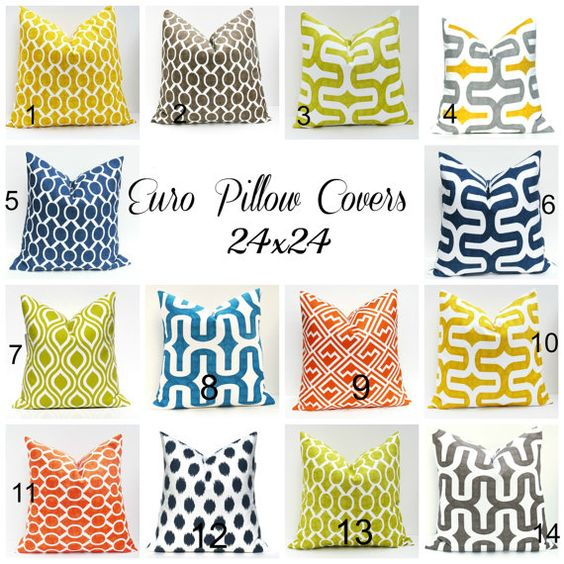 Euro Pillow Covers 24x24 Pillow Covers Floor Pillow by EastAndNest, $26.00