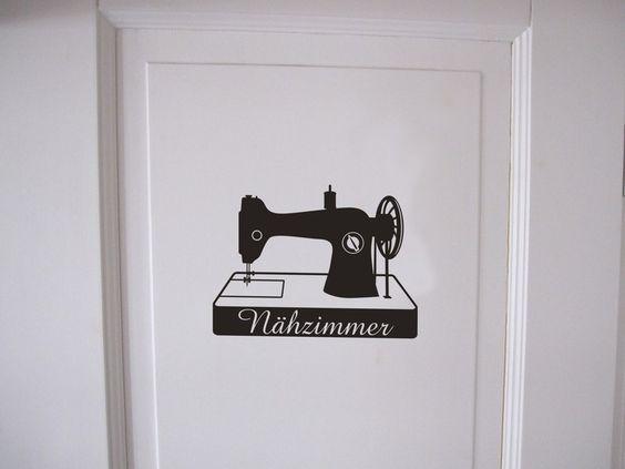 Türaufkleber+fürs+Nähzimmer+von+Emmas+Zimmer+auf+DaWanda.com