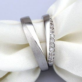 Sterling Silver CZ His and Hers Matching Wedding Bands: