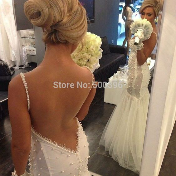Find More Wedding Dresses Information about Sexy Back See Through Mermaid Pearls Wedding Dress 2016 Romantic Sweetheart Bridal Gown casamento vestidos de noiva ,High Quality gowns cheap,China dresse Suppliers, Cheap dress with a hood from Su Zhou Wedding &Events Co,LTD on Aliexpress.com