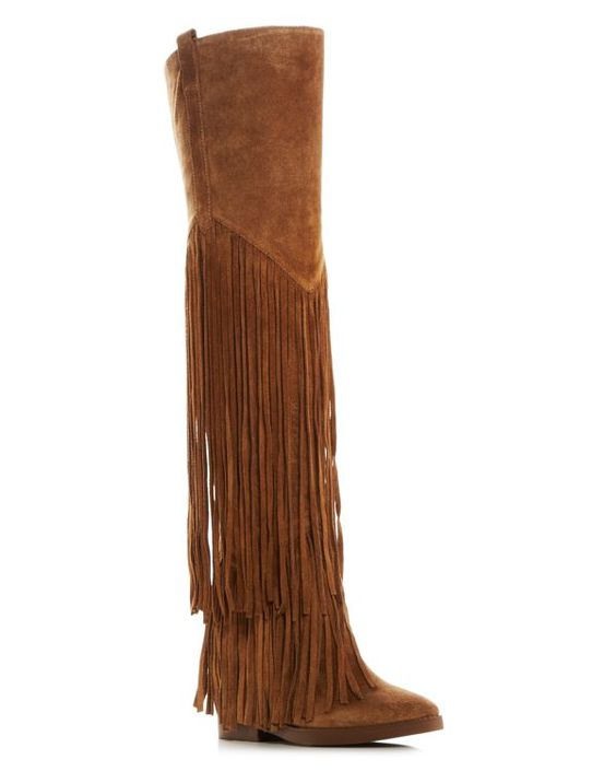Ash Gipsy Fringe Over The Knee Hidden Wedge Boots