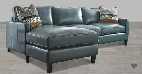 Turquoise Leather Sectional With Chaise Lounge Leathersectionals