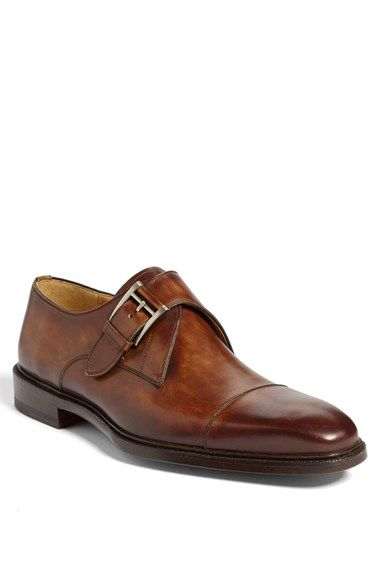 Magnanni 'Nino' Monk Strap Slip-On Brown available at #Nordstrom
