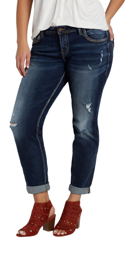 Silver Jeans Co. Women's Silver Jeans Co. Plus Size Fluid ...