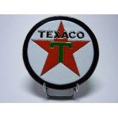Logo Texaco, lave émaillée, objet de décoration américaine unique disponible sur notre site internet pour 72€ TTC