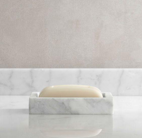 CARRARA MARBLE SOAP DISH: