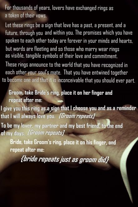 Funny Wedding Ring Exchange Vows