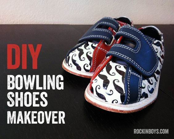 DIY Custom Bowling Shoes for Kids - you won't believe how easy ...