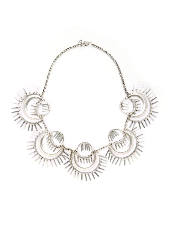 Kassidy Silver Station Necklace by DANNIJO at Gilt