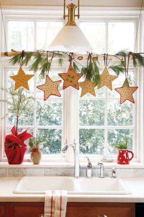 Fabulous Kitchen Christmas Decoration Ideas 08 Diy Christmas Decorations Easy Christmas Window Decorations Christmas Decorations Rustic