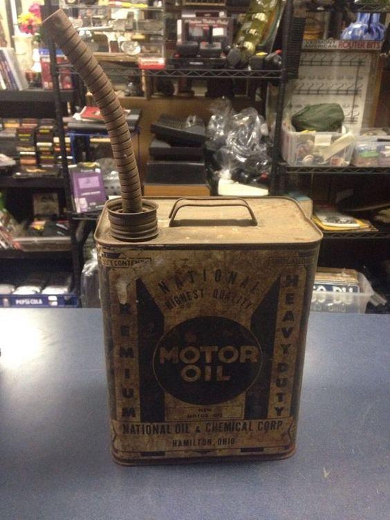 RARE 2 Gallon Premium National Motor Oil Can Hamilton Ohio | eBay