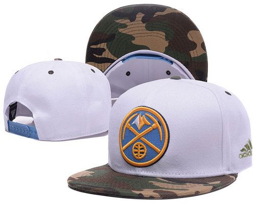 Denver Nuggets White Snapback Hats Camo Brim|only US$6.00 - follow me to pick up couopons.
