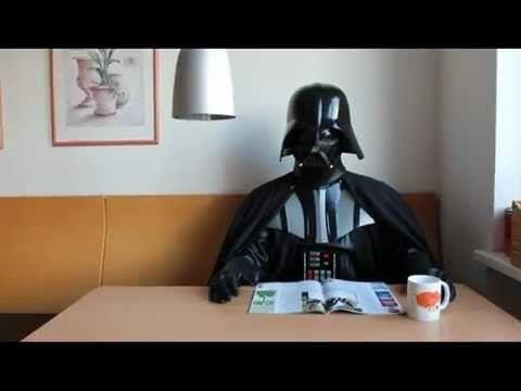 Funny Darth Vader at work ( Star Wars )