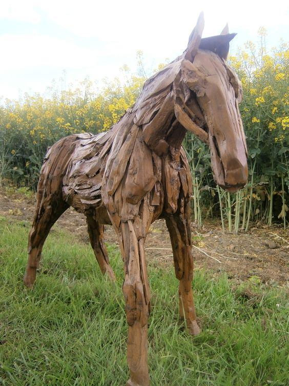 Chairs and Tables UK - Teak Garden Furniture - Small Teak Root Horse (2)
