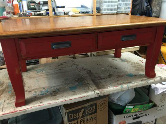 Coffee table Annie Sloan chalk paint