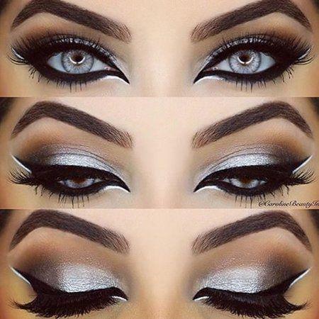Sexy Silver Eye Look By Carolinebeautyinc - Angelica Sky