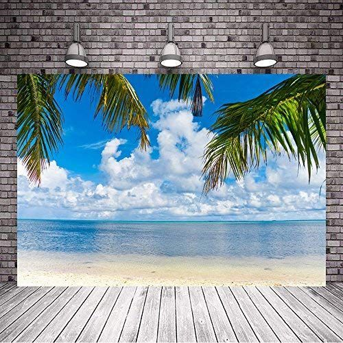 Mehofoto Summer Beach Backdrop Tropical Palm Tree Photography