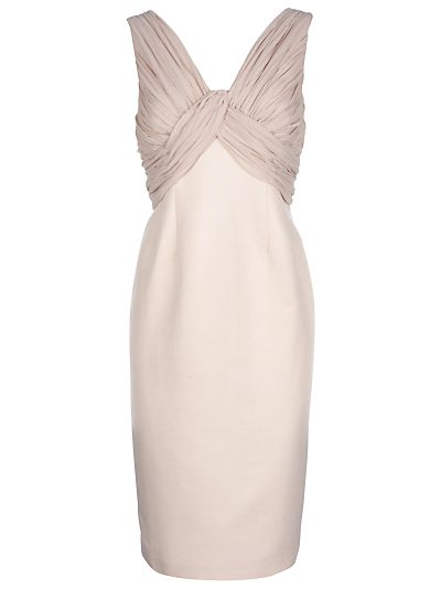 ruched top dress, great for special events like weddings